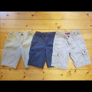 Boys Arizona Jean Co flat front/cargo shorts
